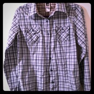 North face women's plaid shirt